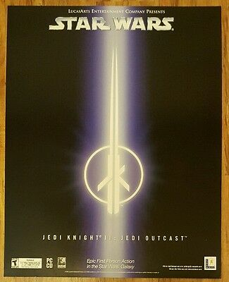 Star Wars Jedi Knight II: Jedi Outcast Promotional Marketing Poster 22×28