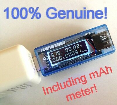Original Keweisi USB multimeter Time, Voltage, Current, Charger Capacity Tester