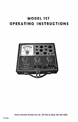 Accurate Instrument Model 157 Tube Tester Manual