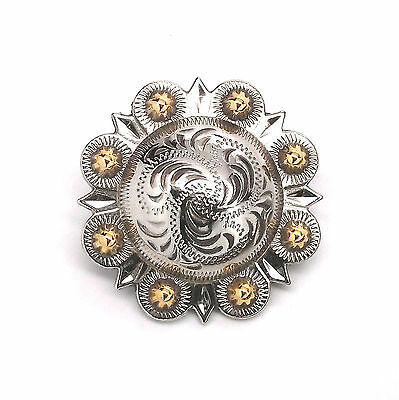 """Berry Concho Antique Silver And Rose Gold Screw Back 1-1//2/"""" 7518-60"""