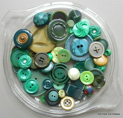 50pc VINTAGE ANTIQUE BUTTON LOT COLLECTIBLES SEWING PROJECTS CRAFTING FRAMES