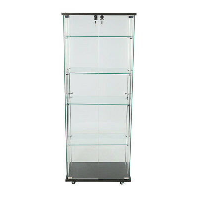 Tower Showcase Retail Store Merchandise Display Case Glass Shelves Knockdown New