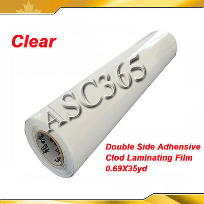 Adhensive Pressure Sensitive Laminating Film Clear Double Sided Tape 0.69x36yd
