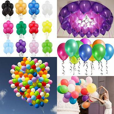 Colorful 20-100pcs Pearl Latex Balloon Celebration Party Wedding Birthday 10""