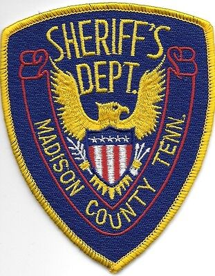 """Madison County, TN (3.5"""" x 4.5"""" size) shoulder police patch (fire)"""
