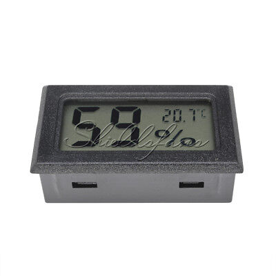 LCD Temperature Humidity Thermometer Outdoor Hygrometer Reptile Meter Black