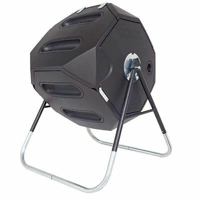 New 65 gal. 8.7 cu. ft. Capacity Black Removable Lid Backyard Tumbler Composter