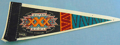Vintage 1996 Super Bowl XXX  Sun Devil Stadium Arizona Felt Pennant