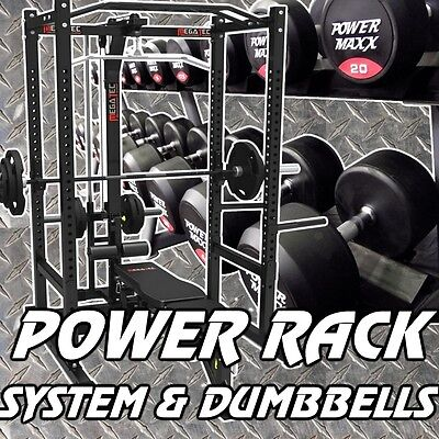 MEGATEC Power Rack System & Dumbbell Package
