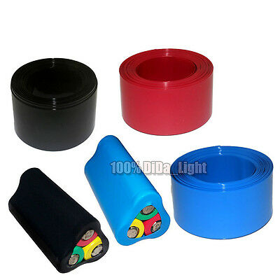 New 60MM Φ38MM PVC Heat Shrink Tubing Wrap For 18650 Li-ion Battery (4 Color)