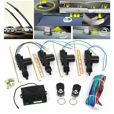 2/4 Keyless Door Remote Control Car Central Locking Security System Entry Kit AU