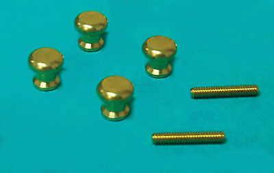 1:12 Scale Two Pair of Brass Door Knobs Dolls House Miniature Building DIY