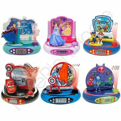 Radio Projector Alarm Clock - Avengers, Princess, Frozen, Spiderman, Paw Patrol