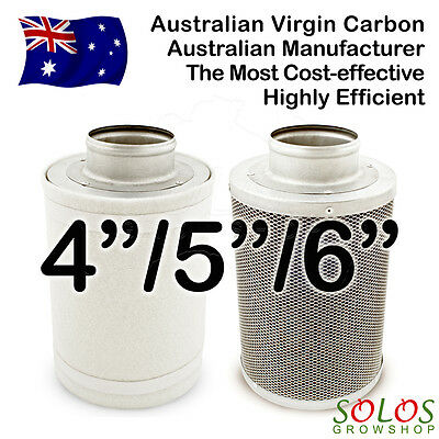 """4""""/5""""/6"""" Hydroponic Carbon Filter For Fan Air Grow Tent Ventilation"""