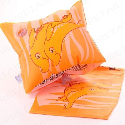 LEARN TO SWIM Blow Up Swimming Aid For Kids Children's Inflatable Arm Bands Pair