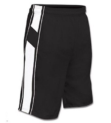 New Champro Dri-Gear Adult  All Sport Basketball Polyester Shorts Black & White