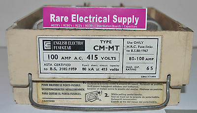 GEC MiniForm Carrier (Cartridge) ONLY 100Amp CM-MT 3 Phase 100 A Switch Fuse GE