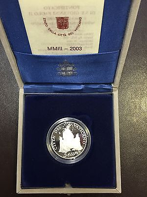 VATICAN Coin Commemorative Silver - 2003 (Jean Paul II) Quality: BE