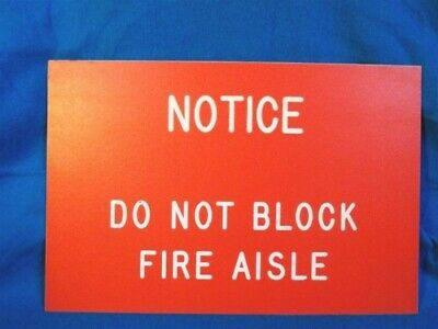"Original HERSHEY Factory Sign (SALVAGED) Reads ""NOTICE DO NOT BLOCK FIRE AISLE"""