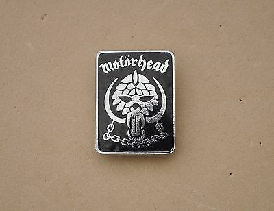 Motorhead Metal  Pin badge  Snaggletooth rock music band RIP LEMMY 1980's