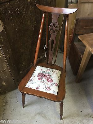 Reclaimed Old Bedroom Chair With Removable Seat Pad