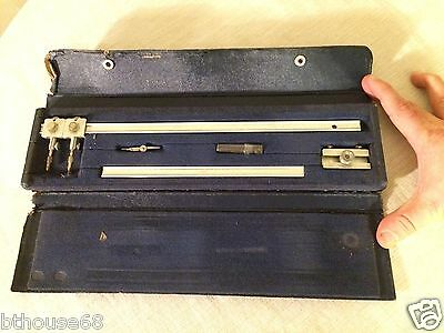 Vintage Alvin 961A Beam Compass with Case - Owned by Hans Marquardt?