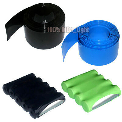 New 85MM Φ55MM PVC Heat Shrink Tubing Wrap For 18650 Battery(8 Color)