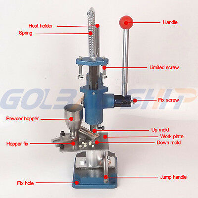 Tablet Press Machine Manual Steel Pill Tablet Maker For Lab / Home Use
