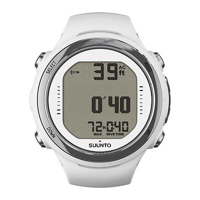 Suunto D4i Novo Diving Computer Dive Watch Scuba Diving with USB Cable White