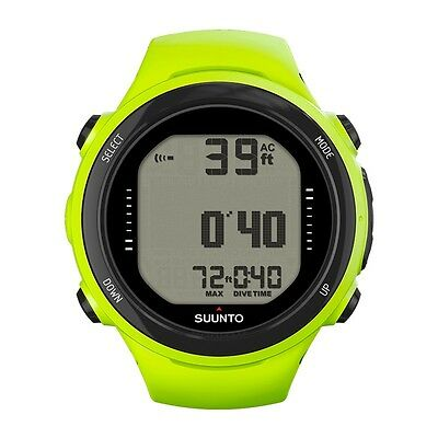 Suunto D4i Novo Diving Computer Dive Watch Scuba Diving with USB Cable Lime