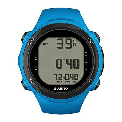 Suunto D4i Novo Diving Computer Dive Watch with USB Cable Blue