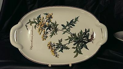 """Villeroy And Boch Botanica Pickle Dish / Tray 10 1/4"""" From Handle To Handle"""