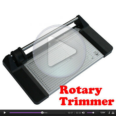 """Video!14"""" 350mm Brand Manual Rotary Photo Paper Cutter Trimmer +1 Blade"""