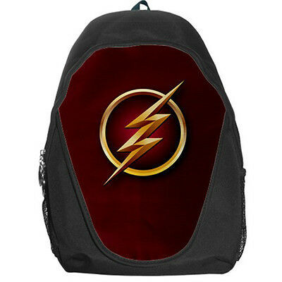 The Flash DC Comics Superhero Teen Kids Canvas School Backpack Bag Rucksack