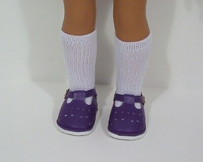 """Debs LAVENDER Bow-Tie Doll Shoes For 14/"""" American Girl Wellie Wisher Wishers"""