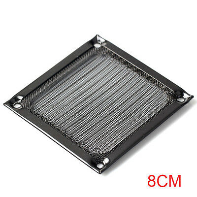80mm Computer Anodized Aluminum Case Fan Filter Guard Grill Anti-dust A1154 WS