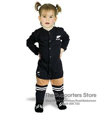 New Zealand All Blacks Rugby Footy Suit Onesie Jersey Design Toddlers Size 000-3