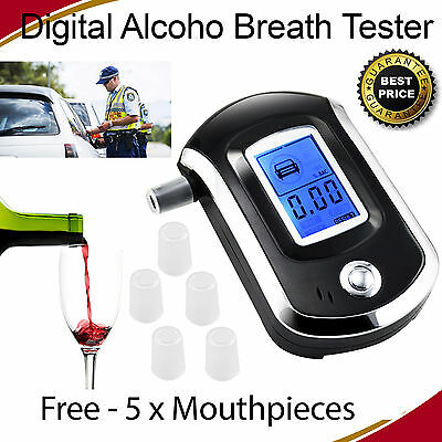 New LCD Digital Alcohol Breath Tester Analyzer Handheld Detector Breathalyser