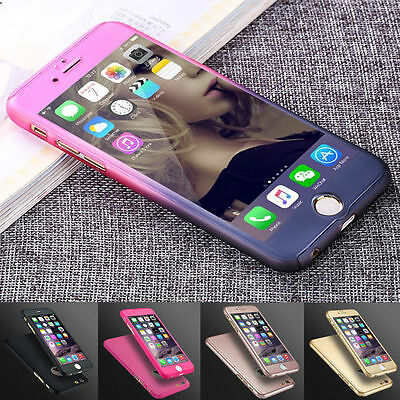 Luxury Hybrid Tempered Glass Acrylic Hard Case Cover For iPhone 7 5s 6  6S Plus