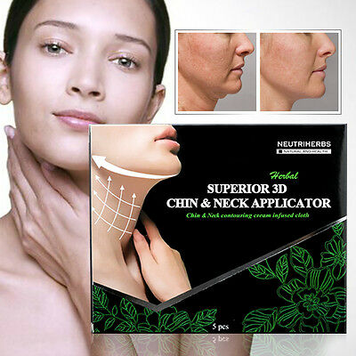5 Pack Superior 3D Chin & Neck Body Wraps it Works for DOUBLE V-LINE REMOVER