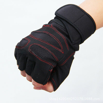 Men Sports Exercise Weightlifting Gym Gloves Training Fitness Workout Wrist Wrap