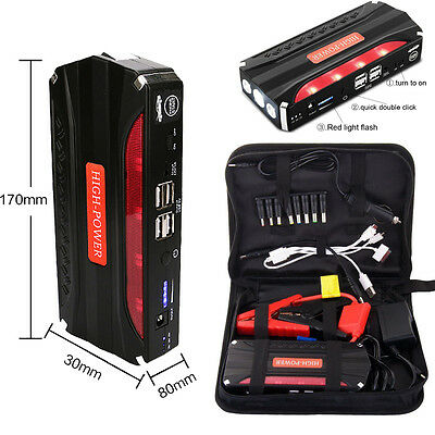 68800mAh High Capacity Car Jump Starter Booster Emergency Charge Minimax New