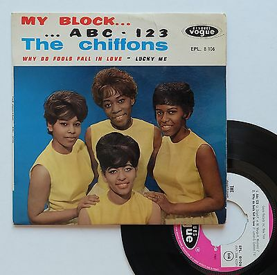 "Vinyle 45T The Chiffons  ""My block"""