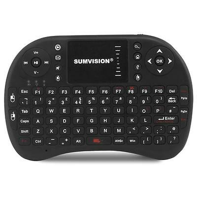 SUMVISION NICO WIRELESS HANDHELD KEYBOARD TOUCH PAD 10m RANGE for SMART TV PS3