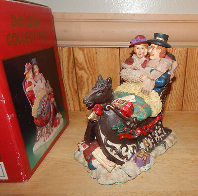 Dickens Collectible Horse Drawn Sleigh Christmas Decoration