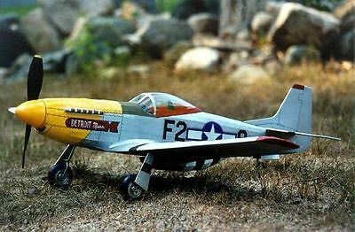 Guillows Wood Model Kit - WWII US Air Force P51 Mustang Plane - 1:16 Scale - 402