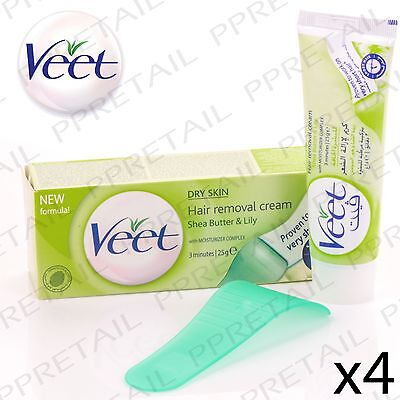 4x VEET 3-MINUTE HAIR REMOVAL CREAM FOR DRY SKIN Underarm Leg & Bikini UK SELLER