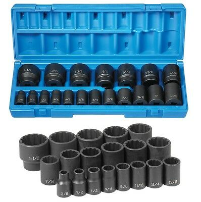 Grey Pneumatic  19 Pc. 1/2inch Drive 12 Point Fractional Impact Socket Set New