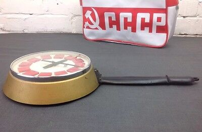 Vintage Kitchen Wall Clock Made In Poland By Predom Frying Pan Clock