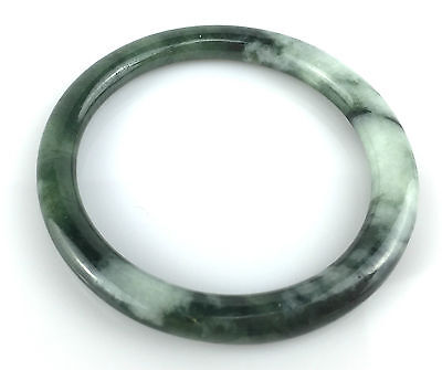 Bracelet Grade A Jonc 5,9 Cm Jade Jadéite Vert Naturel Chinois Bangle J46